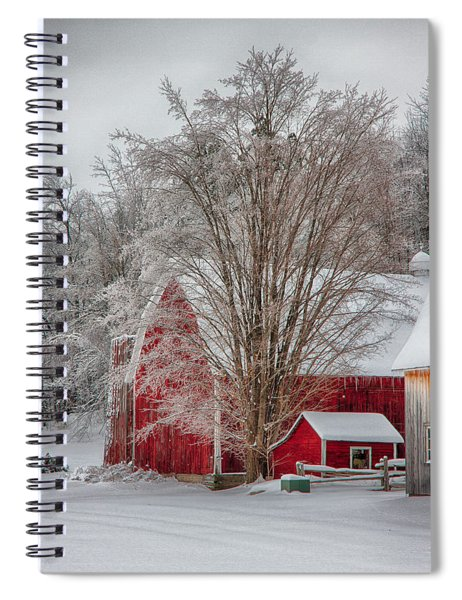 Red Vermont Barn Spiral Notebook