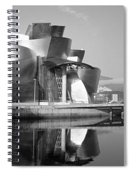 Reflection Of A Museum On Water Spiral Notebook