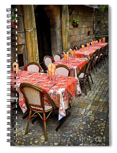 Restaurant Patio In France Spiral Notebook