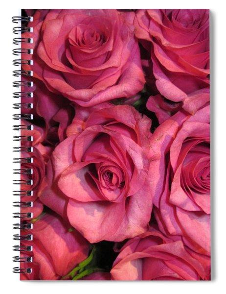 Rosebouquet In Pink Spiral Notebook