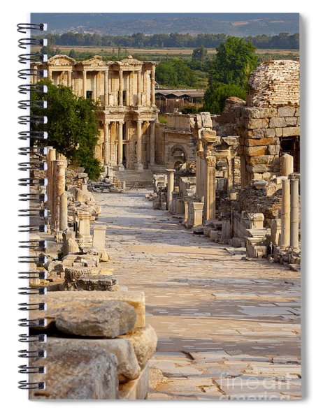 Spiral Notebook featuring the photograph Ruins Of Ephesus by Brian Jannsen