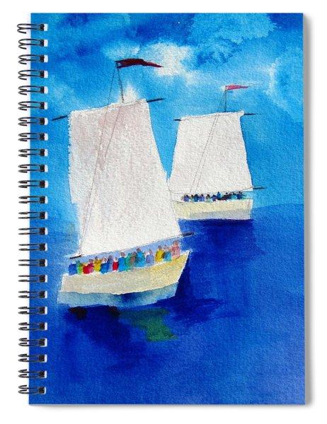 2 Sailboats Spiral Notebook