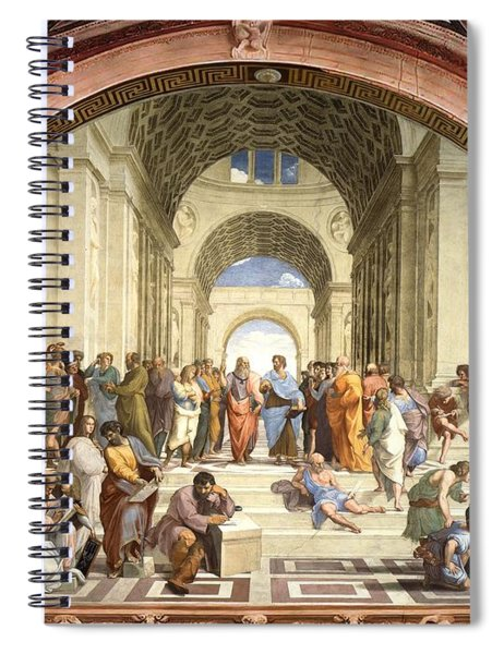 School Of Athens Spiral Notebook
