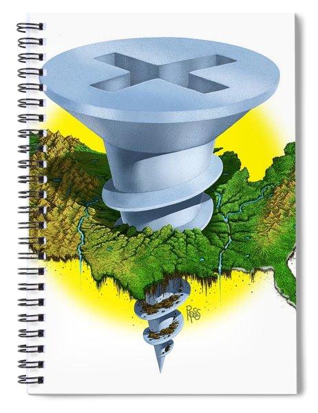Screwed Spiral Notebook