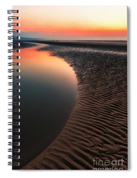Seascape Sunset Spiral Notebook