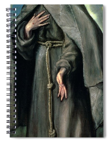 St Francis Of Assisi Spiral Notebook