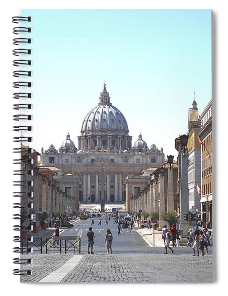 St Peter Basilica Viewed From Via Della Conciliazione. Rome Spiral Notebook