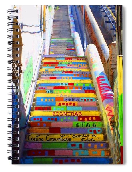 Stairway To Heaven Valparaiso  Chile Spiral Notebook