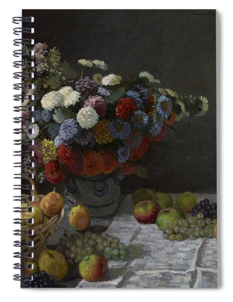 Still Life With Flowers And Fruit Spiral Notebook