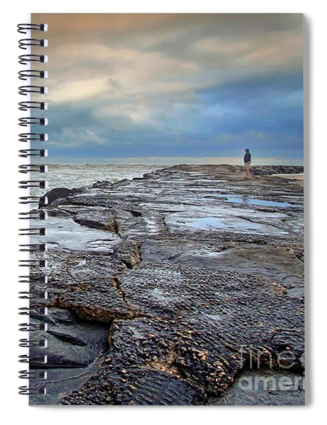 Storm Blowing Out Spiral Notebook