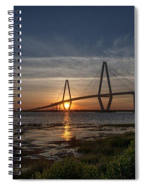Sunset Over The Bridge Spiral Notebook
