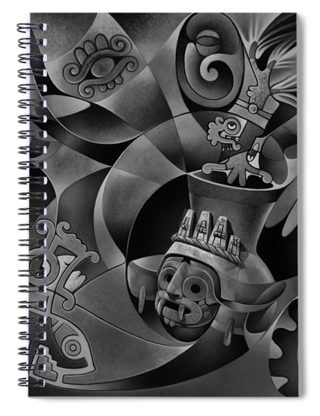Tapestry Of Gods - Tlaloc Spiral Notebook