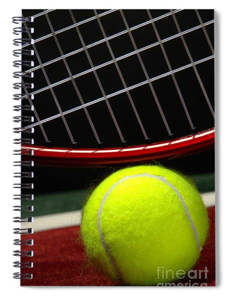 Tennis Ball Spiral Notebook