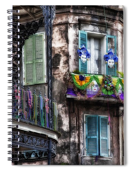 The French Quarter During Mardi Gras Spiral Notebook