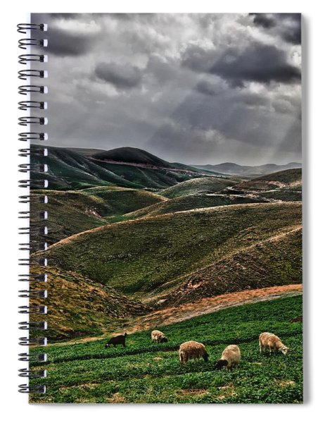 The Lord Is My Shepherd Judean Hills Israel Spiral Notebook