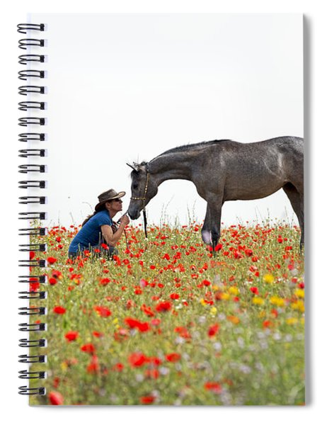 Three At The Poppies' Field... 4 Spiral Notebook