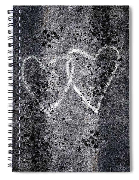 Two Hearts Graffiti Love Spiral Notebook
