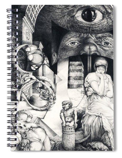 Vindobona Altarpiece IIi - Snakes And Ladders Spiral Notebook