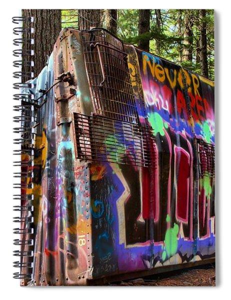 Whistler Train Wreck Box Car Spiral Notebook