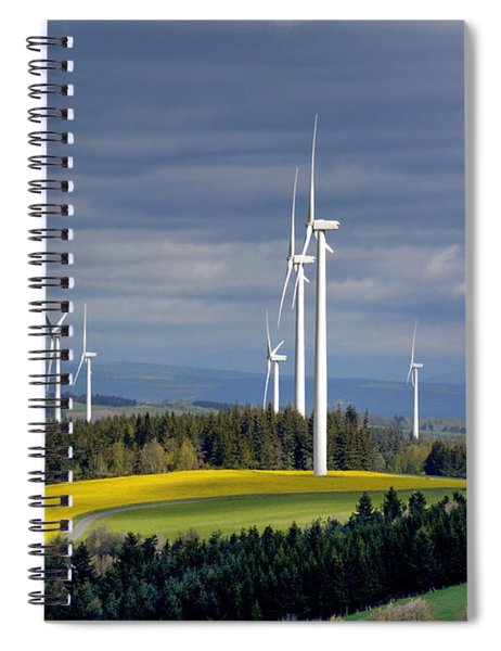 Wind Turbines Spiral Notebook