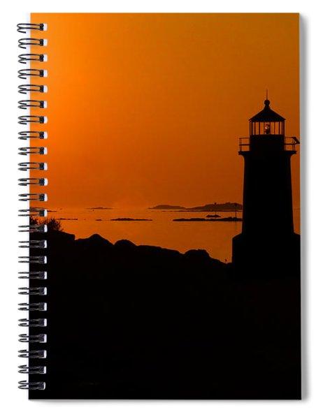Winter Island Lighthouse Sunrise Spiral Notebook