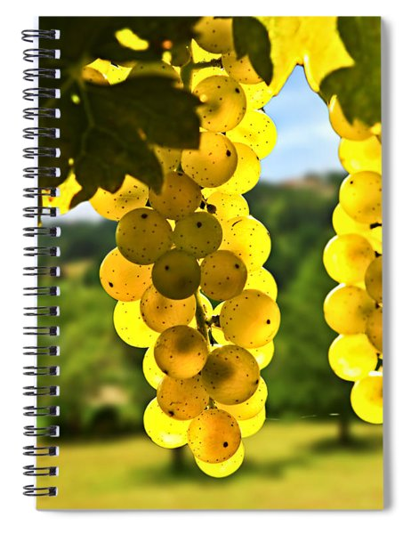 Yellow Grapes Spiral Notebook