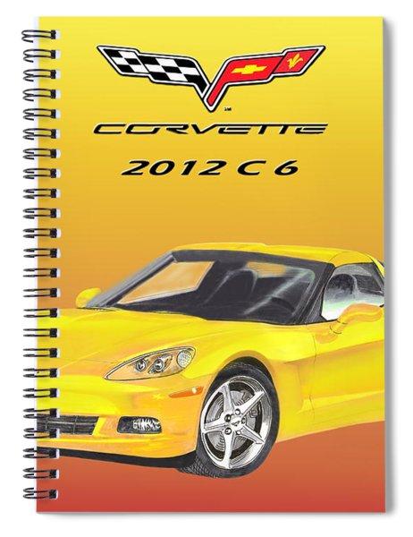 2012 C 6 Corvette Spiral Notebook