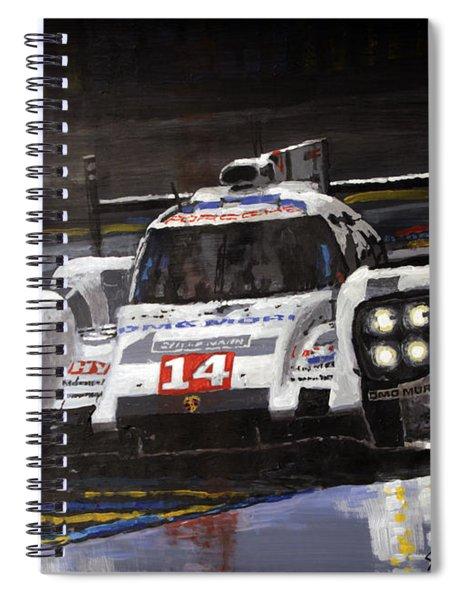 2014 Le Mans 24 Porsche 919 Hybrid  Spiral Notebook