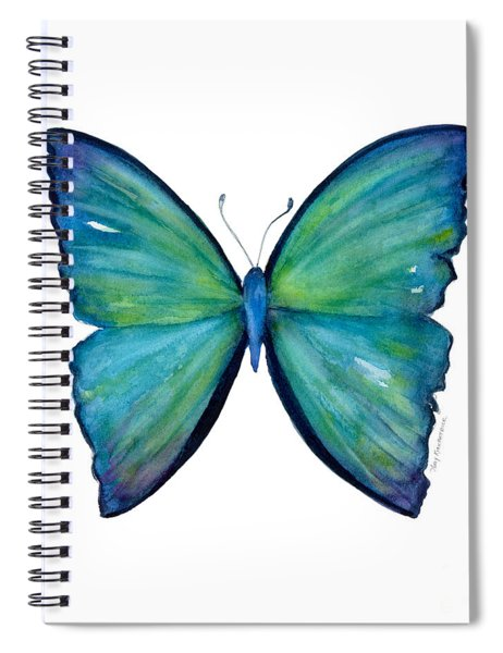 21 Blue Aega Butterfly Spiral Notebook