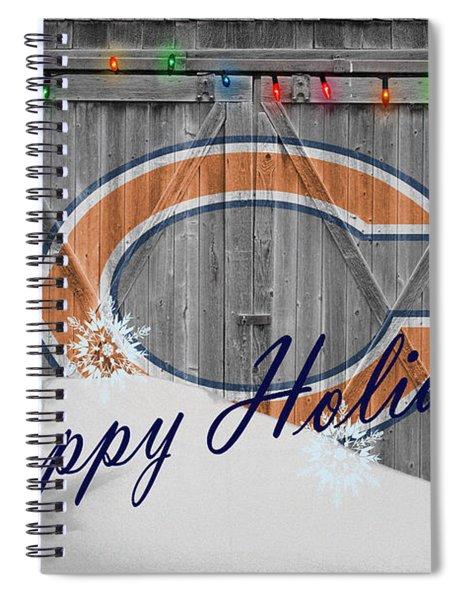 Chicago Bears Spiral Notebook by Joe Hamilton