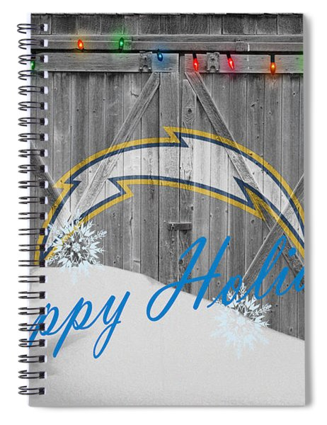 San Diego Chargers Spiral Notebook by Joe Hamilton