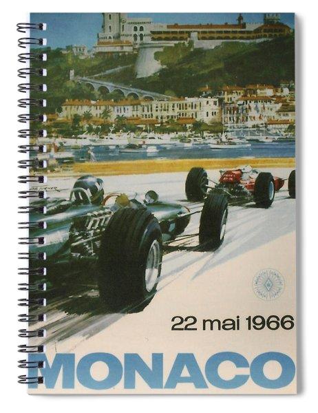 24th Monaco Grand Prix 1966 Spiral Notebook