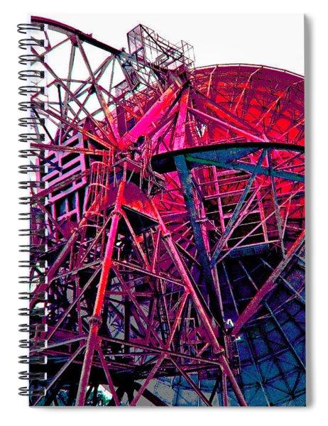 26 East Antenna Abstract 4 Spiral Notebook