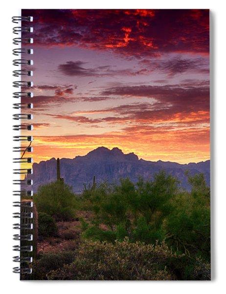 A Superstition Sunrise  Spiral Notebook