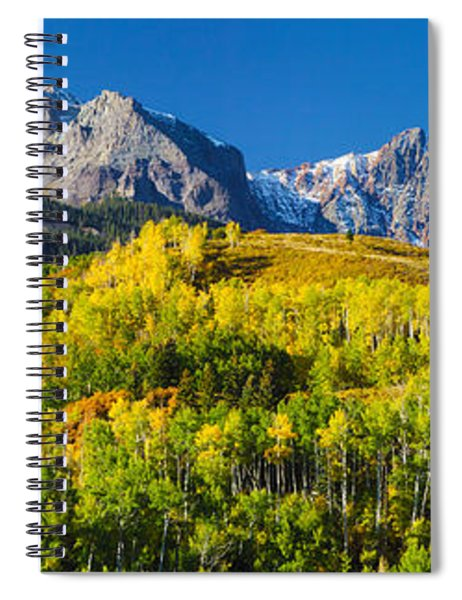 Aspen Trees With Mountains Spiral Notebook