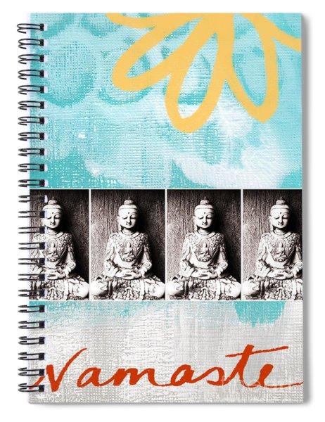 Buddha Spiral Notebook by Linda Woods