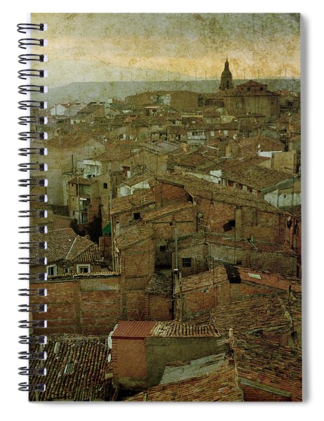 Calahorra Roofs From The Bell Tower Of Saint Andrew Church Spiral Notebook