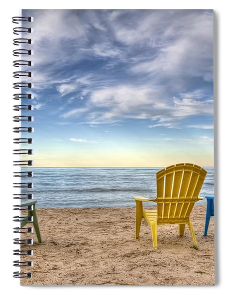 3 Chairs Spiral Notebook
