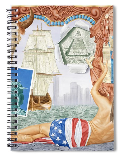 Destruction Of Native America Spiral Notebook