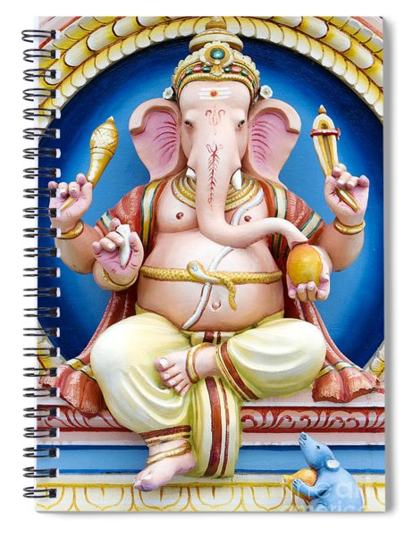 Colourful Ganesha Spiral Notebook
