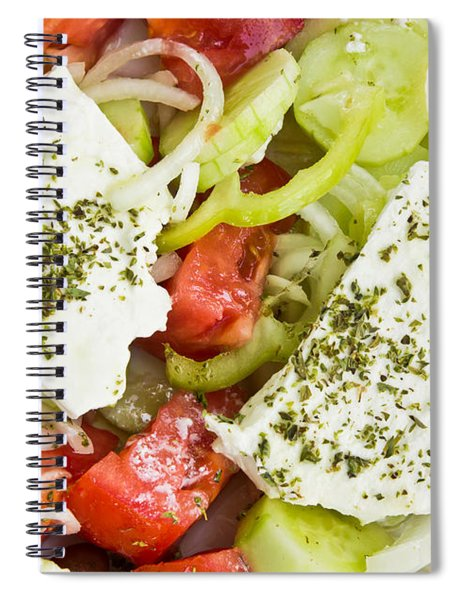 Greek Salad Spiral Notebook