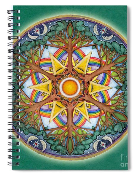 Heaven And Earth Mandala Spiral Notebook