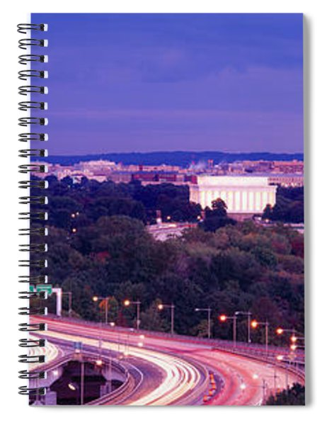 High Angle View Of A Cityscape Spiral Notebook