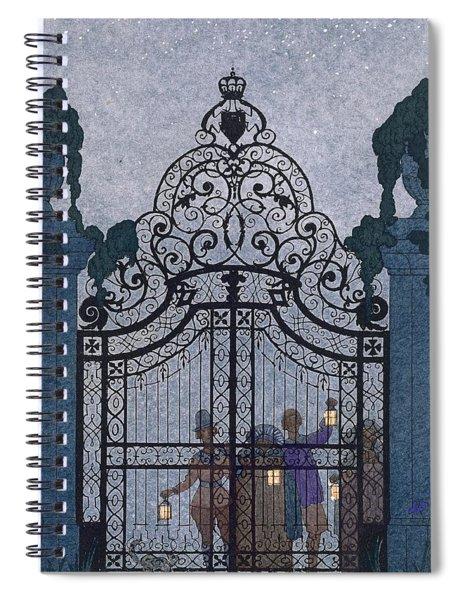 Illustration For 'fetes Galantes'  Spiral Notebook