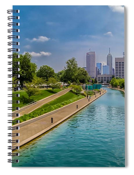 Indianapolis Skyline From The Canal Spiral Notebook
