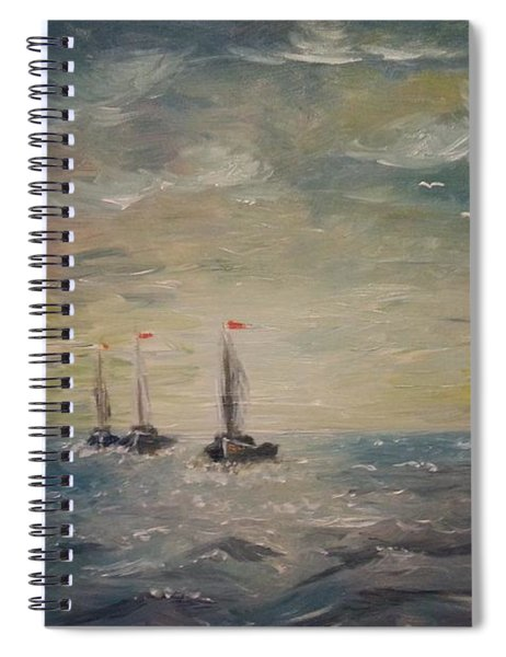 3 Little Boats Spiral Notebook