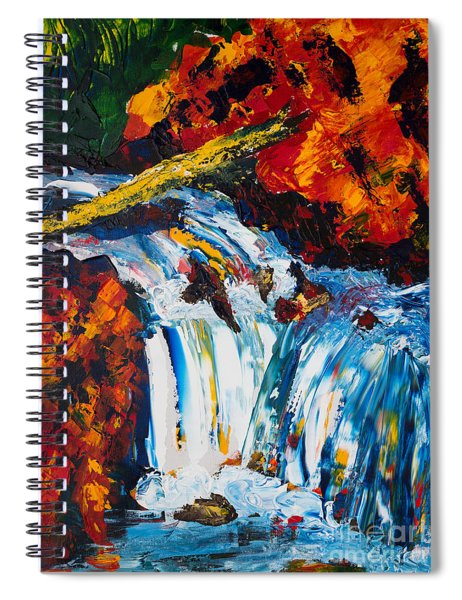 Log And Waterfall Spiral Notebook