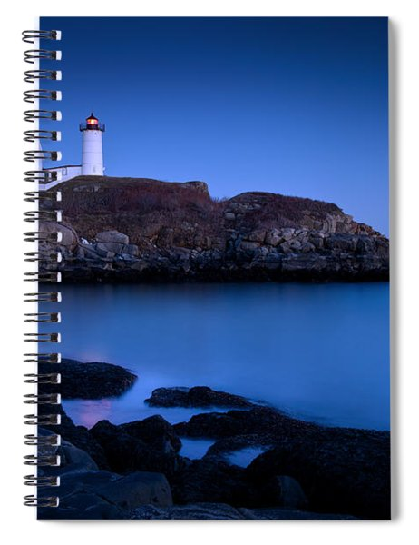 Spiral Notebook featuring the photograph Nubble Lighthouse by Brian Jannsen
