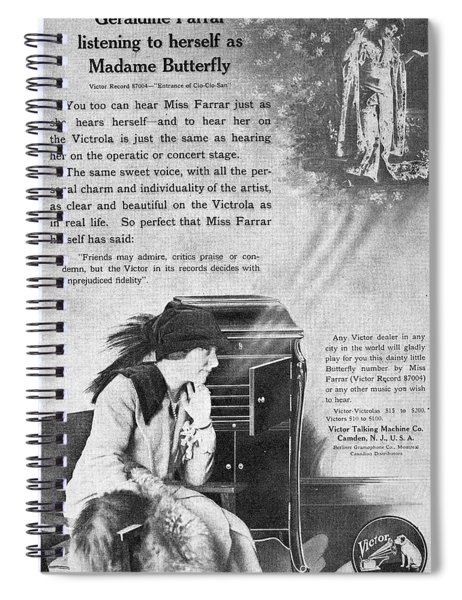Phonograph, 1914 Spiral Notebook