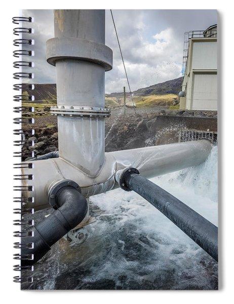 Pipes At Nesjavellir Geothermal Power Spiral Notebook